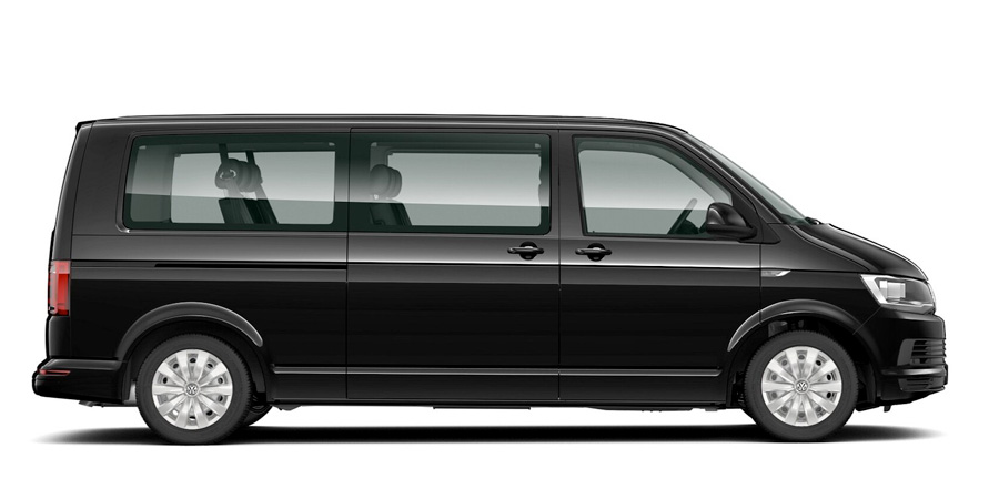 Volkswagen Caravelle 9 seater minibus for hire on Corsica